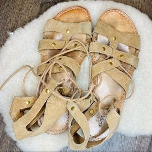 Urban Outfitters Tan/Beige Strappy Sandals